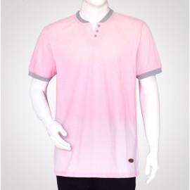 تی شرت مردانه یقه کش سه دکمه