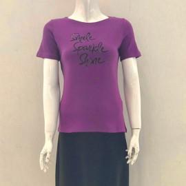 تیشرت زنانه چاپى نگين دار اسمايل