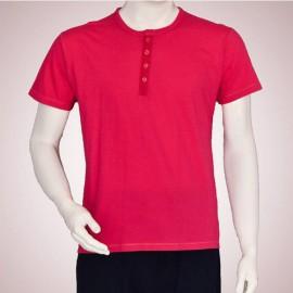 تی شرت مردانه یقه گرد دکمه دار